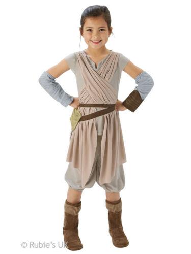 Rey Girls Fancy Dress Deluxe Star Wars The Force Awakens Kids Childrens Costume