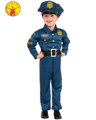 CK1526 Top Cops Deluxe Muscle Police Officer Costume Child Kids Boys Book Week