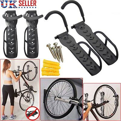 2X BIKE BICYCLE STORAGE WALL MOUNTED MOUNT HOOK RACK HOLDER HANGER STAND GARAGE