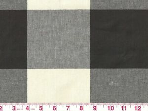 1-5-yd-Black-Check-by-P-Kaufmann-Drapery-Upholstery-Fabric-Buffalo-Check-CL-Jet