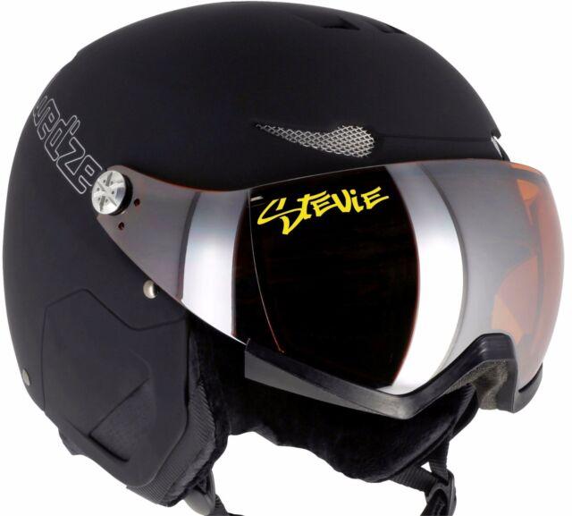 2x personalised name snowboard ski helmet visor goggles stickers 24 colours