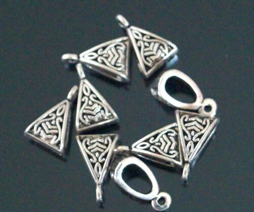 10 20 Hanger Bails Tibetan Silver Jewellery Findings Connectors 15x10mm A23