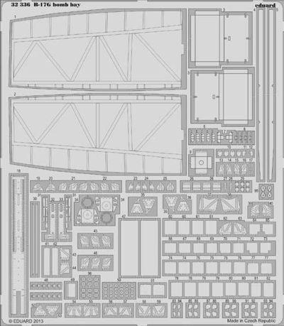 Eduard 1//32 Boeing B-17G Flying Fortress Bomb Bay Detailing Set # 32336
