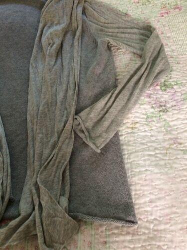 Paneler 10 En Gray Farhi sz gang Nicole Oversized Collar Slidt Front Cardigan q8XZBaw
