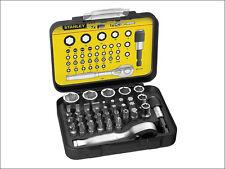 Stanley Bit & Socket Set of 39 + Ratchet Metric 1/4 Drive 1-13-906