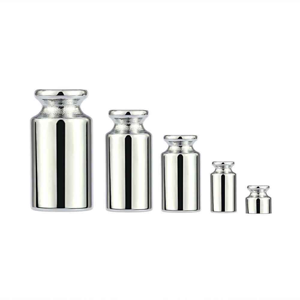 Scale Weights Set Precision Weight Test Scale Set Weight Test Set 5Pcs Chrome Plating Defect Free for Industry Shiny Scale Weight Elegant Appearance
