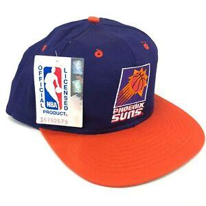 Vintage-Phoenix-Suns-AJD-Snapback-Hat-Cap-Purple-Orange-White-Logo-90s-NWT