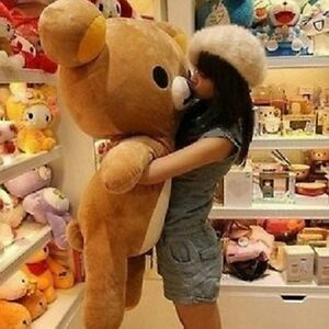 Giant-Rilakkuma-Bear-Stuffed-Animal-Hung-Plush-San-X-Soft-Toys-Doll-Gift-80cm