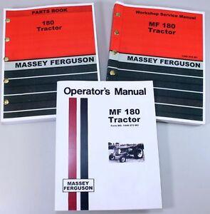 set massey ferguson mf 180 tractor service repair owners operators rh ebay com Massey Ferguson 180 Tractor Common Problems Massey Ferguson 165 Mowing Hay
