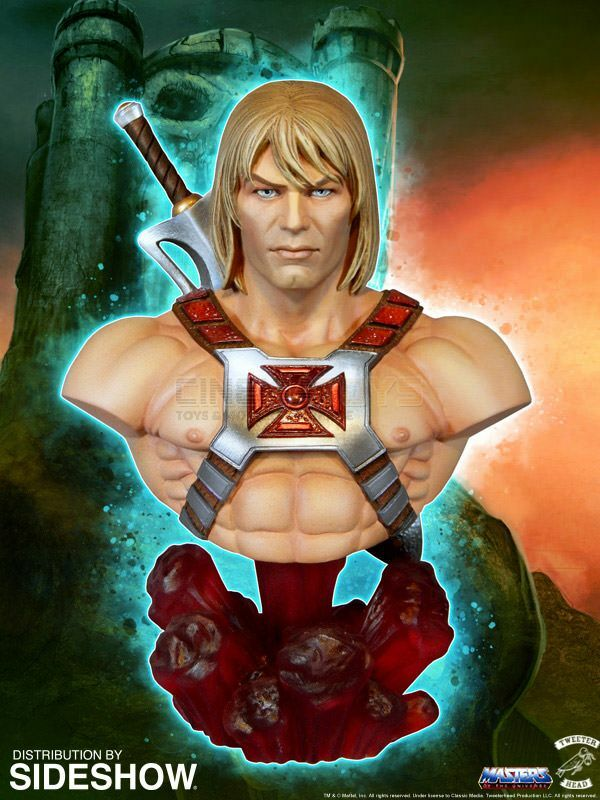 MOTU Masters of of of the Universe He-Man Collectible Bust Tweeterhead Sideshow RARE deb971