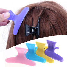12 Pcs Salon Hairdressing Butterfly Hair Claw Clips Sectioning Clamps Grips LH