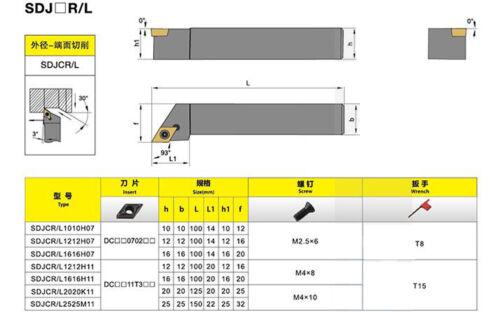 SDJCR 2525M11 25x150mm Lathe Turning Tool Holder Boring Bar