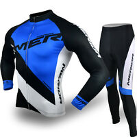 Men Cycling Merida Reflective Jersey Set Bicycle Jacket Top & Bike Padded Pants