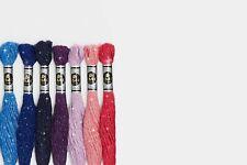 Mouline DMC matassina filo ricamo TONI ROSA cotone tutti colori punto croce NEW