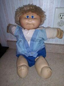 1982 Appalacian CABBAGE PATCH DOLL Blonde Hair Blue Eye Boy