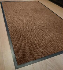 Image Is Loading Brown Heavy Duty Non Slip Rubber Barrier Mats