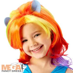 Rainbow Dash Wig Girls Fancy Dress My Little Pony Kids Childs ... c11119ddc6a1