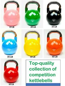 Competition Kettlebell –Professional Grade for Fitness 15-50LB - LOCAL PICK UP