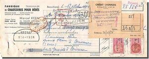 Letra de cambio- Marcel KERN Fábrica de Zapatos para bébés a Beauchamp 1956