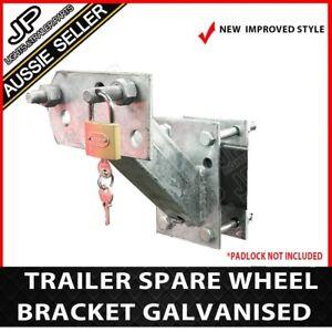 SPARE-WHEEL-BRACKET-CARRIER-HOLDER-TYRE-GALVANISED-TRAILER-PART-CARAVAN-BOAT