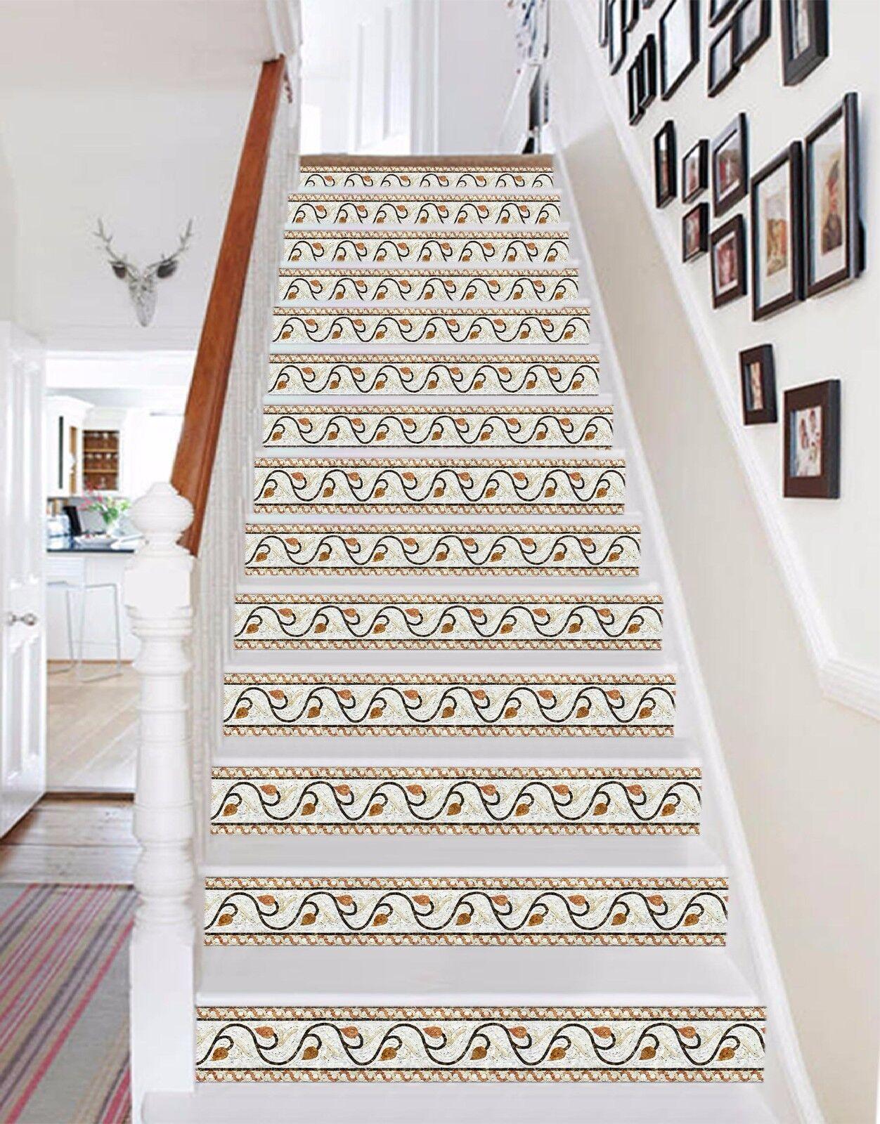 3D Vines 435 Stair Risers Decoration Photo Mural Vinyl Decal Wallpaper AU Lemon
