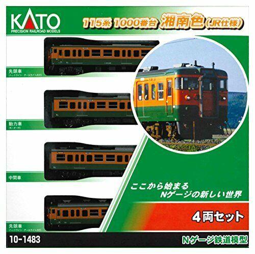 Kato N Scale serie 115-1000 Shonan Color (J.R. Version) 4 Coche Nuevo Set