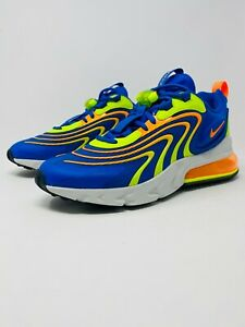 Nike Air Max 270 React Eng Volt Blue Orange Sneakers Cd0113 401