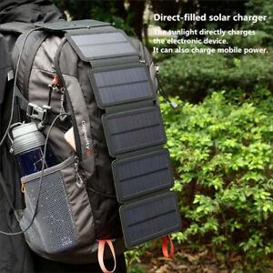 Cargador con Placa solar USB portátil para acampar camping charguer