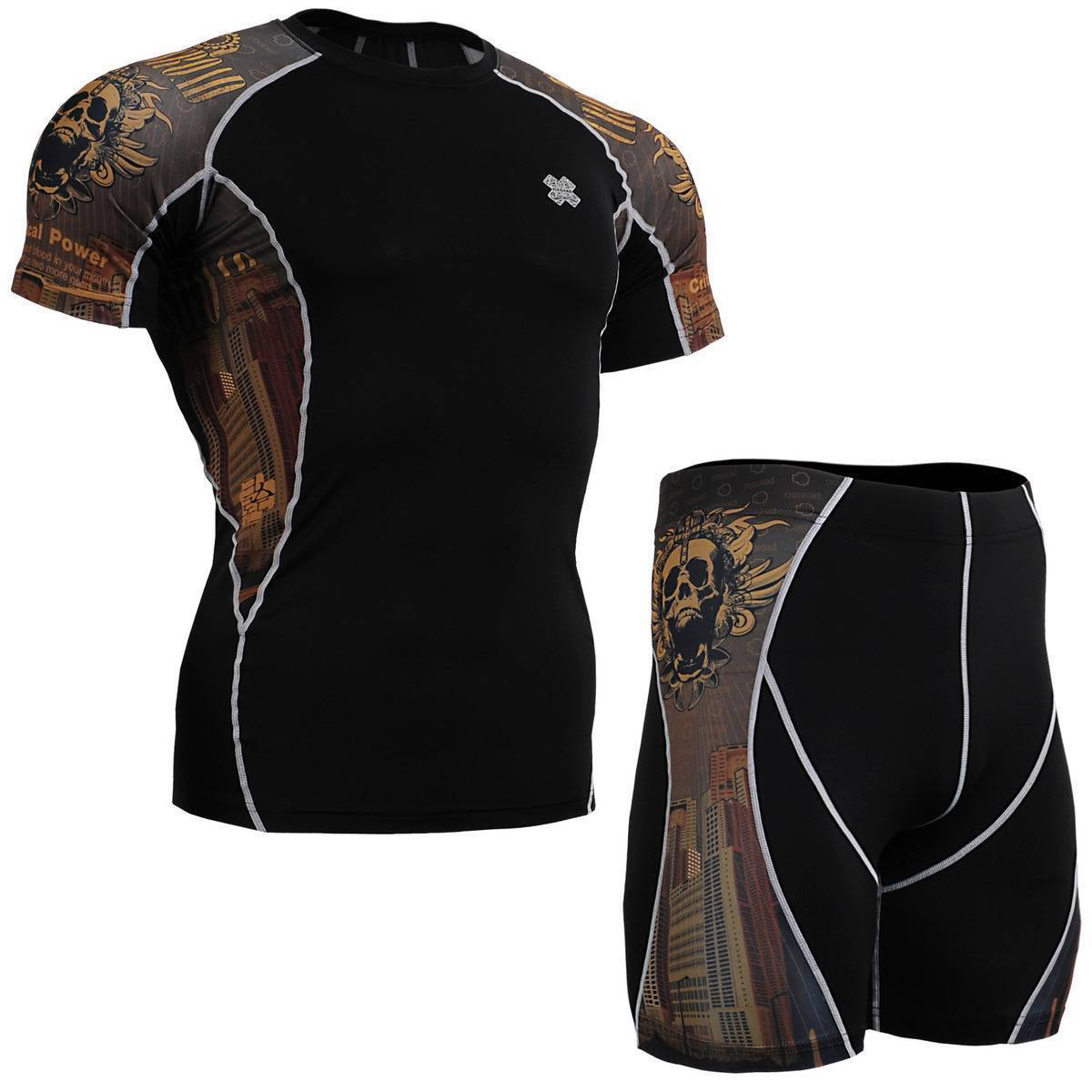FIXGEAR C2S P2S-B27 SET Compression Shirts & Shorts Skin-tight MMA Training