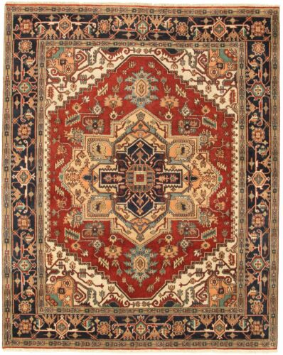 """Hand-knotted  Carpet 7/'10/"""" x 9/'10/"""" Serapi Heritage I Traditional Wool Rug"""