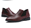 thumbnail 3 - Men's Pointed Toe Chelsea Ankle Boots Casual Weave Texture Shoes Business Dress