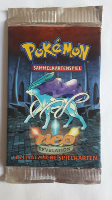 Pokemon Booster Suicune Artwork Neo Revelation DEUTSCH WOTC 2002 MINT PP&FAST