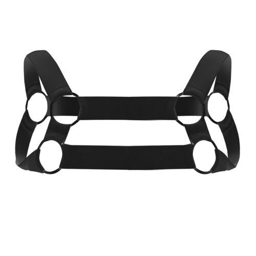 Men/'s Shoulder Strap Chest Harness Lingerie Elastic Shoulder Muscle Brace Bands