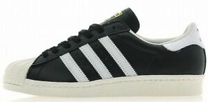 ADIDAS JAPAN SUPERSTAR 80S PREMIUM LEATHER Black-White vintage hip hop new
