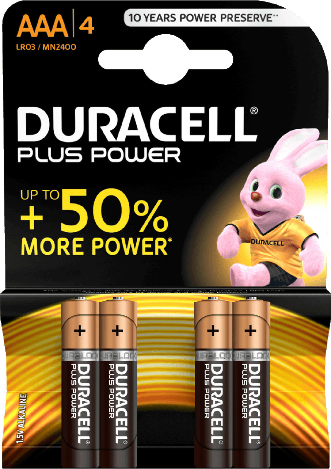 60x Duracell AAA LR03 1,5V Plus Power Alkaline Batterie 15x4er Blister MN2400 | Smart