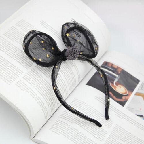 Femmes Filles faveur mignon bandeau dentelle Cat Ear Hairband Cheveux Accessoires