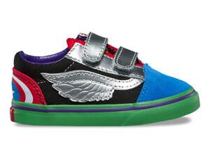 Vans-Old-Skool-V-Marvel-Avengers-VN0A344KU3V-Toddler-Shoes-Multi-Size