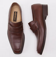 $950 Sutor Mantellassi Medium Brown Calf Leather Penny Loafer Us 11 D Shoes on sale