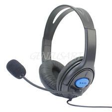Cuffie Gioco Stereo Regolabile Con Controllo Volume Microfono Per Sony PS4 & PC