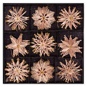 Stroh-Sterne-handgefertigt-27x-ca-11-cm-Weihnachtschmuck-Baumschmuck-Baumdeko