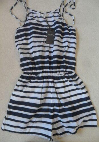 Face Bottoncino 12 con anteriori leggero Navy 10 Stripe Playsuit cotone Fat 8 in spalline Pantaloncini wpxRtRdq