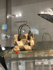 b39a5a7f2cde Image is loading NWT-MICHAEL-KORS-MERCER-METALLIC-PATCHWORK-LEATHER- CROSSBODY-