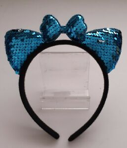 GIRLS-SEQUIN-CAT-EARS-HEADBAND-metal-Hair-Band-Fancy-Costume-Party-Cosplay-UK