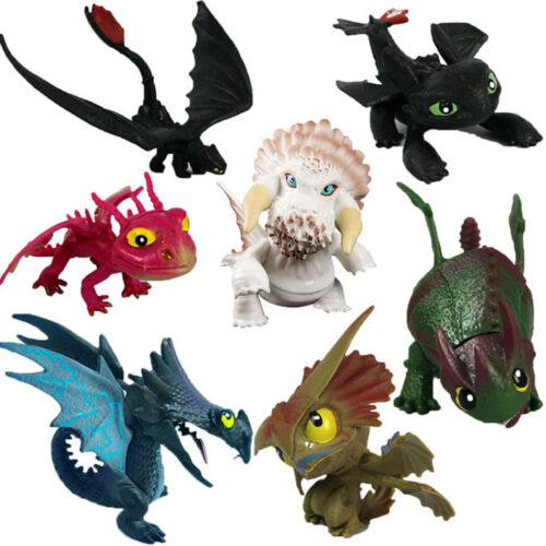 How to Train Your Dragon 2 Doll Toothless 7 PCS PVC Action Figure Toys US STOCK