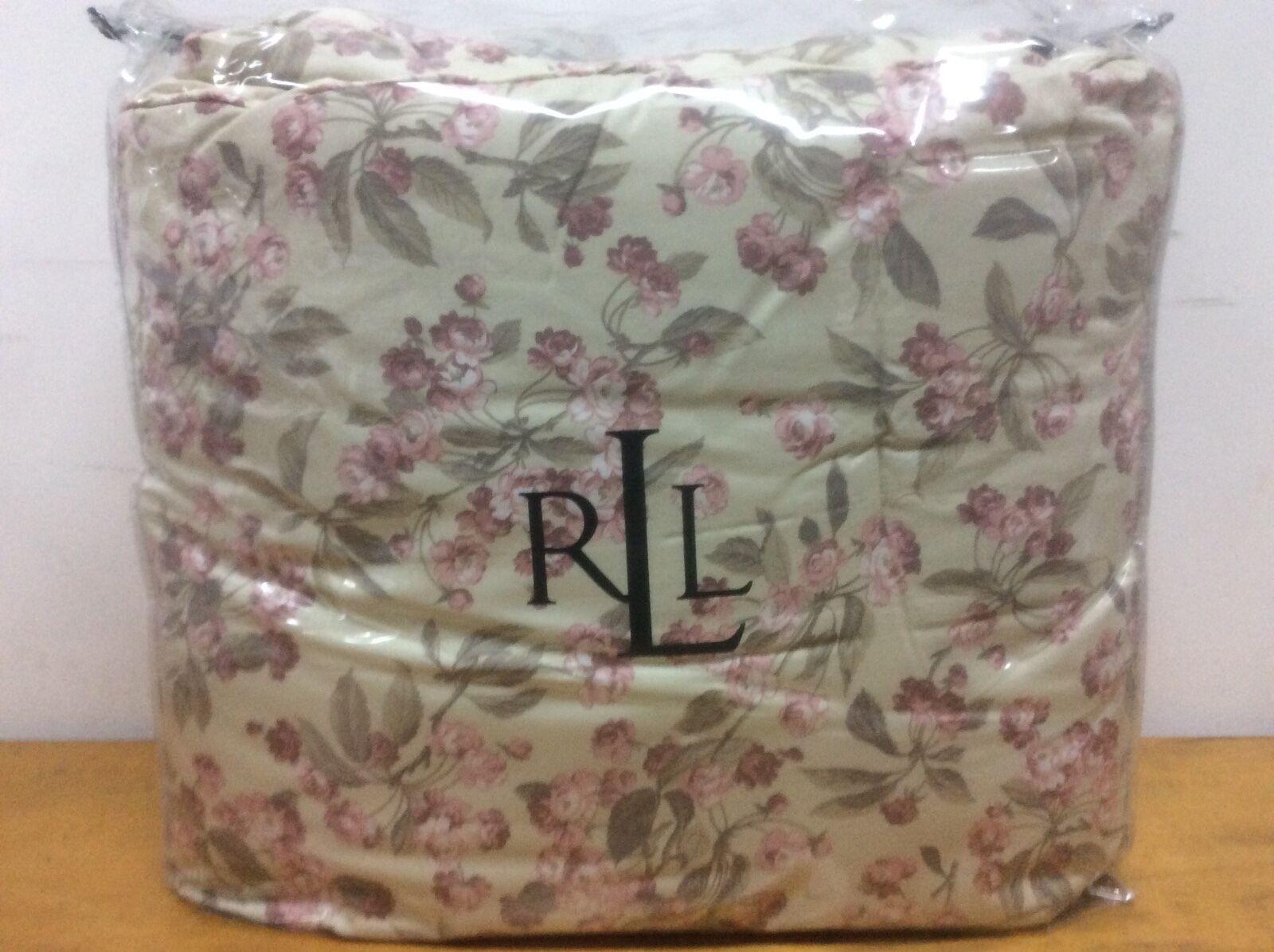 Neuf Ralph Lauren pleine reine Couvre-lit FLEURS