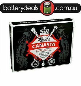 Canasta-Playing-Cards-Queen-039-s-Slipper-Double-Deck-Casino-Quality-plastic-coated