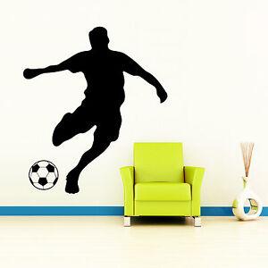wandtattoo fu baller fu ball spieler fu ballspieler kinderzimmer sticker 10390 ebay. Black Bedroom Furniture Sets. Home Design Ideas