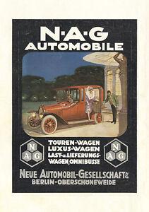 DéLicieux Nouvelle Automobile Gesellschaft Ag Berlin Trajet Voiture Affiche Braunbeck Moteur A1 538-afficher Le Titre D'origine