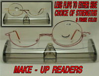Eye Make-up Reading Glasses Magnifier Flips Either Side To Apply Make - Up .