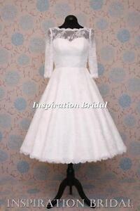 1545-short-50s-60s-wedding-dresses-tea-length-knee-lace-long-sleeves-bateau-neck